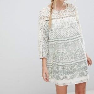 NWT Free People Sundaze Printed Shift Dress